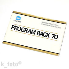 Minolta Program Back 70 Bedienungsanleitung * manual de instrucciones
