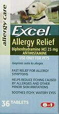 Excel Allergy Relief for Dogs, 36-Count Bottle...