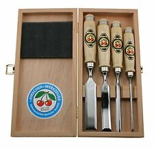 Two Cherries Kirschen 1190 Problem Solving Chisel Set in Wood Box FT303909
