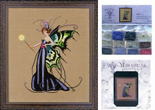 MIRABILIA Cross Stitch PATTERN and EMBELLISHMENT PACK August Peridot Fairy MD122
