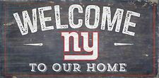 "NY New York Giants Welcome to our Home Wood Sign - 12"" x 6""  Decoration Gift"