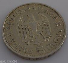 Münze Dt. REICH 1935 D - 5 Reichsmark (Paul von Hindenburg)