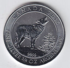 2015 $2 Pure Silver 3/4 oz RCM Grey Wolf - Straight from a Tube