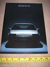 Renault 25 Car Brochure 1984 Catalogue mint condition Collectable