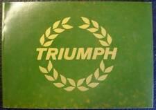 TRIUMPH POCKET HISTORY NO.10 MICHAEL FROSTICK CAR BOOK