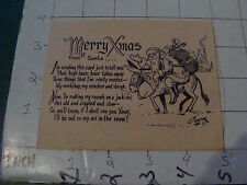 vintage original NAUGHTY card from 1958--MERRY XMAS from Santa about high taxes