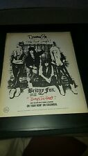 Britny Fox Boys In Heat Rare Original Promo Poster Ad Framed!
