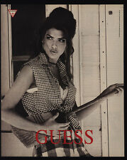 1991 Sexy American Model SHANA ZADRICK - GUESS Clothing - VINTAGE AD
