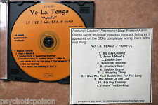 YO LA TENGO - Painful  CD Promo Misprint  City Slang ‎– 04927  Testpressung