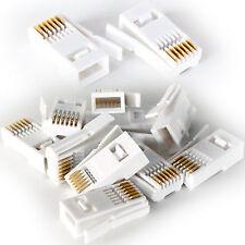 10x BT Teléfono 631a Presión Conector - Clavijas/Final/Jotas Para Teléfono Cable