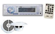 New Marine Boat MP3 USB AUX WMA Media Receiver Radio + 2 X Speakers Package