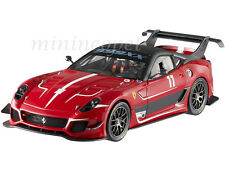 HOT WHEELS ELITE BCJ91 FERRARI 599XX 599 XX EVO #11 1/18 DIECAST RED