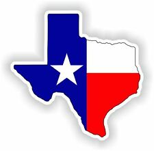 Texas Map Flag Sticker State for Bumper Guitar Door Laptop Helmet Truck Tool Box