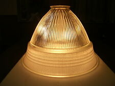 OUTSTANDING HOLOPHANE CIRCA 1930's RIBBED SIGNED PATENT LIGHT SHADE CHANDELIER