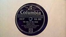 """10"""" 78RPM - FRANKIE LAINE - THE GIRL IN THE WOOD (COLUMBIA D.B. 2907)"""