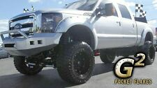 FITS FORD F250 F350 SUPERDUTY 11-14 G2 POCKET RIVET STYLE FENDER FLARES PAINTED