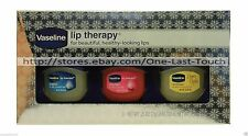 VASELINE 3pc Balm/Gloss LIP THERAPY Set/Lot ORIGINAL+ROSY LIPS+CREME BRULEE 2/2