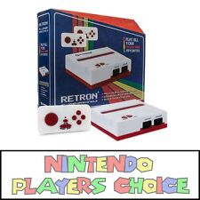 Nintendo NES RED WHITE 8-Bit Retro Top Loader Loading Console System **NEW**