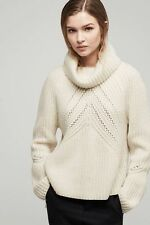 RAG AND BONE CECE FUNNEL NECK CHUNKY KNIT SWEATER MEDIUM