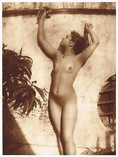 1920's Vintage Italian Female Nude Model Gloeden Art Deco Photo Gravure Print