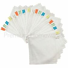 40 x IKEA KRAMA White 100% Cotton Washcloths/Flannels For Babies & Children