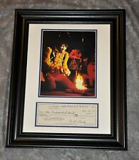 "Jimi Hendrix Monterey Photo W/ Leo Fender June 1967 Signed Check ""Burnt Strat"""
