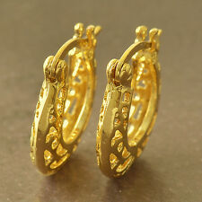 Perfect 9K Yellow Gold Filled Womens Hoop Earrings F5254
