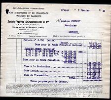 """GRACAY (18) SCIERIE PARQUETERIE / PARQUETS & BOIS """"Veuve SOURIOUX"""" en 1949"""
