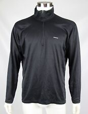 Patagonia Capilene Mens Size XL Black Polyester Long Sleeve Half-Zip Pullover