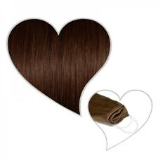 Easy Flip Extensiones en marrón chocolate#04 60 cm 130 Gramos Cabello natural Tu