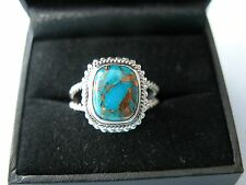 LOT 310 STUNNING SKY COPPER TURQUOISE SOLID STERLING SILVER RING SIZE - R 1/2