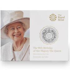 Nuova moneta in argento fine, per la Regina d 'Inghilterra 90 anni compleanno