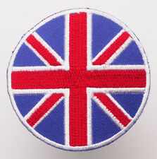 "United Kingdom ""UNION JACK"" Circle Iron-On Patch - MIX 'N' MATCH - #2F07"
