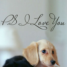 PS I Love You Vinyl New Wall Quotes Stickers DIY Home Art Sayings Decals HG-0673