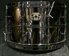"""Ludwig drums Black Magic 8 x 14"""" Black Nickel over Brass shell snare drum LW0814"""