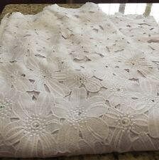 African Swiss High Quality Lace Fabric With Rhinestones. 5yds.