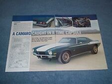 "1970 Dick Harrell LS6 SS 454 Camaro Article ""Caught in a Time Capsule"""