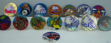 Lot of 15 Vintage 90's Pog Game Loose POISON SKULL Sports 8 Ball Spider +++