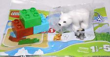 LEGO Duplo Tierbaby 30322 Polybag Tüte, 3 Steine + 1 Tier = kleiner Eisbär NEU