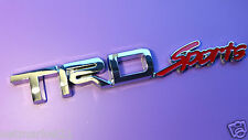 TRD SPORTS Badge Emblem Sticker ABS Silver 3D Logo Toyota Corolla Yaris Avensis