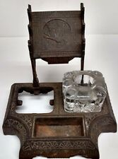 1880s? INK PEN & PENCIL DESKTOP INKWELL ORNATE HOLDER
