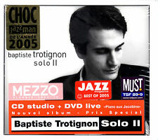 BAPTISTE TROTIGNON solo II CD + DVD STILL SEALED Naive jazz