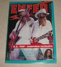 1985 ENFER EUROPE METAL MAGAZINE #28 ZZ TOP DIO KISS DEEP PURPLE FRANCE FESTIVAL
