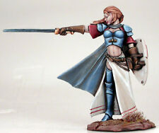 Dark Sword Female Warrior with Long Sword and Shield miniature metal new