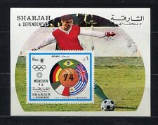s5230) SHARJAH 1974 MNH** World Cup Football - CM Calcio S/S IMPERF