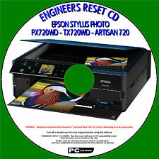 EPSON PX720WD TX720WD PRINTER WASTE INK PAD COUNTER EASY ENGINEERS CDROM FIX NEW