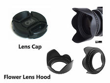 FK14u Camera Lens Hood + OM Cap for Olympus PEN E-P5 E-PM2 E-PM1 14-42mm Lens