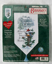 """All Hearts Come Home For Christmas"" Dimensions Counted Cross Stitch Banner Kit"