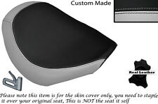 LIGHT GREY &BLACK CUSTOM MADE FITS SUZUKI VZR 1800 R FRONT LEATHER SEAT COVER