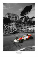 * AYRTON SENNA * Signed poster of late F1 driver! Large size! Great gift!